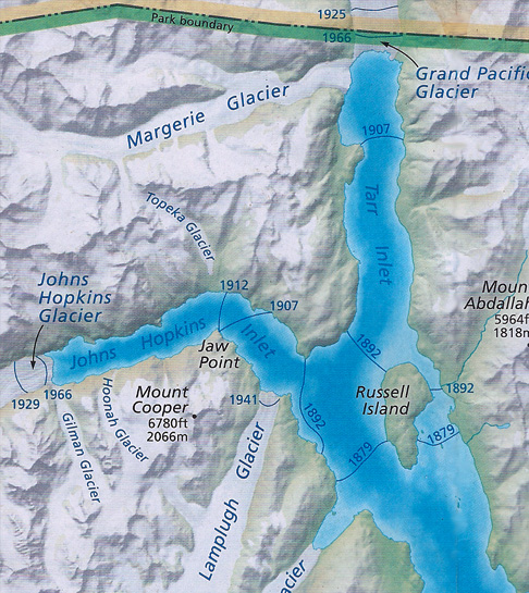 glacier bay national park map with Glacier on 1958 Lituya Bay megatsunami additionally Itinerary Map Images furthermore Glaciers additionally Glacier likewise Hidden Creek Backpacking Trip.