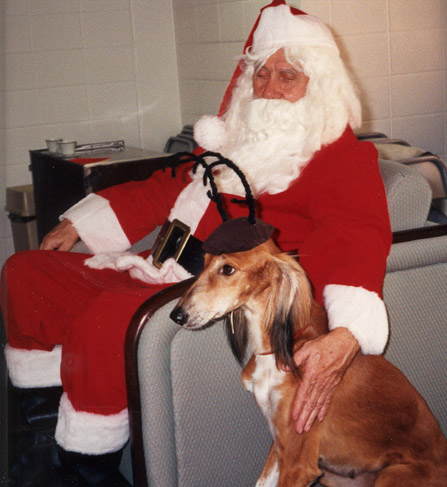 Bob reilman returns to play his traditional role as the santa with a