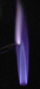 potassium chloride flame test