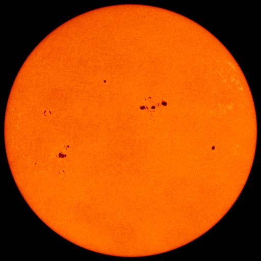 sunspots and solar storms