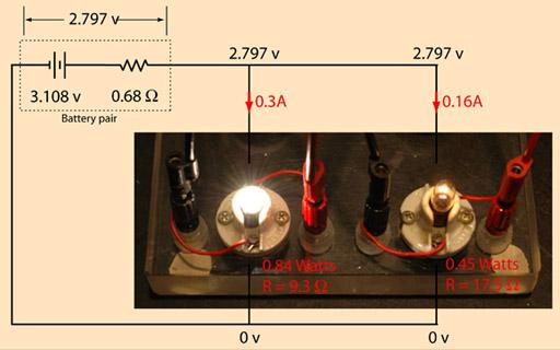 Circuito Seri E Paralelo : Batteries and bulbs as dc circuit example